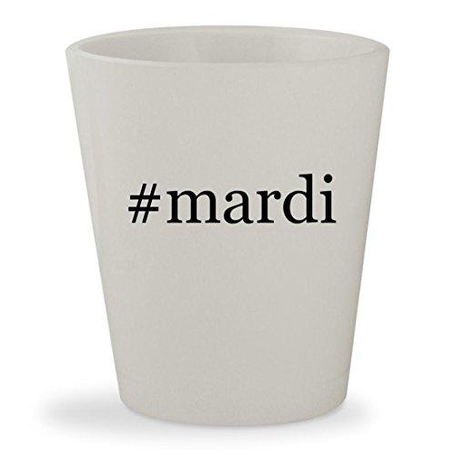 #mardi - White Hashtag Ceramic 1.5oz Shot (20costumes)