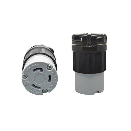 YuaDon NEMA L5-30R,125 Volt,30 amp, Locking Connector Receptacle,2 Poles,3 Wires,Industrial Grade