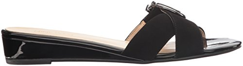 Nine West Womens Tiggy Mocka Kil Sandal, Svart, 8 M Oss