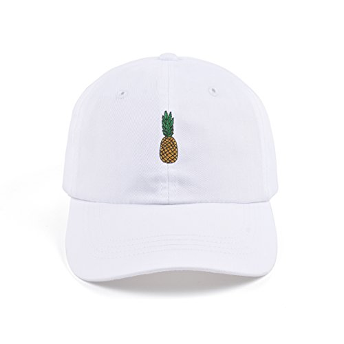 AUNG CROWN Pineapple Embroidered Dad Hat Cotton Women Men Cute Adjustable  Baseball Cap (White) - Buy Online in Oman.  ebb25ce0397