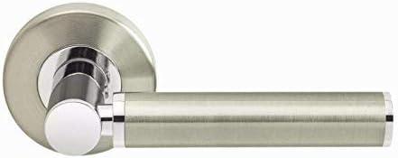 Designer Levers 8803DN Titania Manilla para puerta 2 unidades, acabado en dos tonos