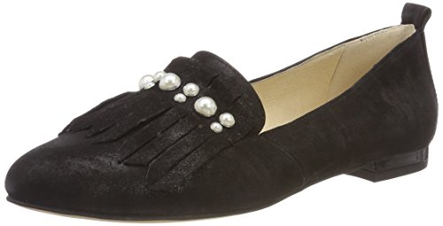 Black Loafers Black 4 Caprice Women 24202 Suede 4qZB6S