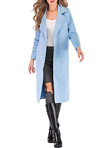 Romacci Women's Coat Long Sleeve Pocket Longline Winter Fall Warm Coat Overcoat ()