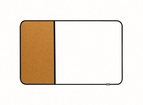Post-it Sticky Cork and Dry Erase Board, Post 22 x 34-Inches, Black and Gray