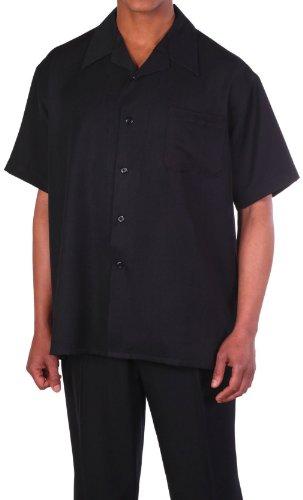 Milano Moda 100% Linen Walking Set (Shirt Sleeve Shirt and Long Pant) -