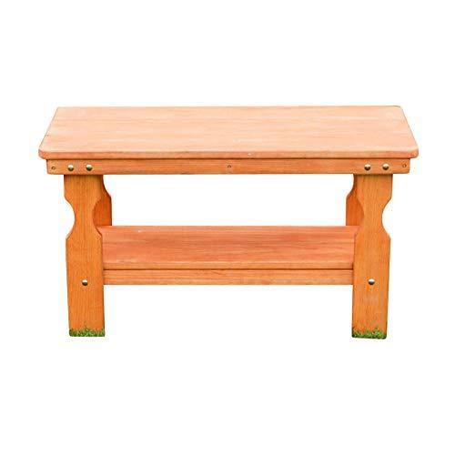 Amish Heavy Duty Pressure Treated Coffee Table (Cedar Stain) - Cedar Outdoor Coffee Table