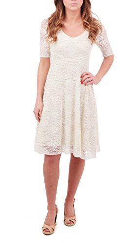 Zac Posen Z Spoke Lace Dress, Ivory, US 2