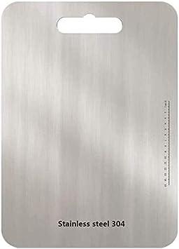 Tagliere in acciaio inox massiccio antibatterico 30 x 20 cm astano