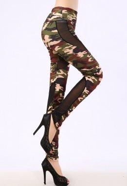 NEW Mesdames Camouflage et maille pour femme FANCY DRESS Porter Casual Wear Club Porter Taille unique 10–12