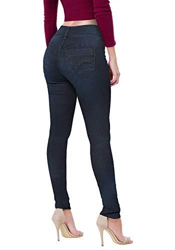 Women's Butt Lift V2 Super Comfy Stretch Denim Jeans P43635SK Indigo2 3 (Best Jeans For No Booty)