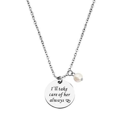 KUIYAI Thank You for Raising The Man of My Dream I Will Take Care of Her Always Necklace Bracelet Gift for Mother in Law (MIL Necklace 3)