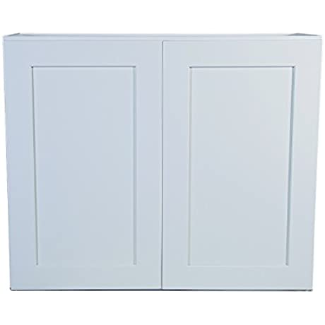 Design House 613414 Brookings 36 Fully Assembled Kitchen Wall Cabinet White Shaker