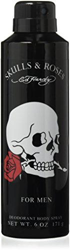 Ed Hardy Skulls and Roses Aero Body Spray Duo M, 6.0 Ounce