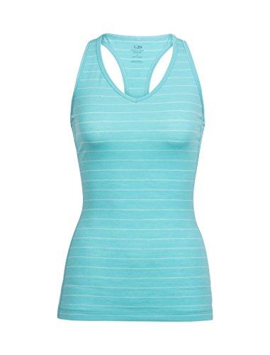 - Icebreaker Merino Women's Sprite Tank Underwear, Stripe/Lagoon/Dew, X-Small