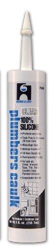 Oatey 25686 Hercules 11-Ounce Clear Cartridge Silicone Plumber's (Plumber Caulk)