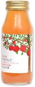 りょくけん 北海道産 あかねりんごジュース 180ml×1本 無添加 ストレート