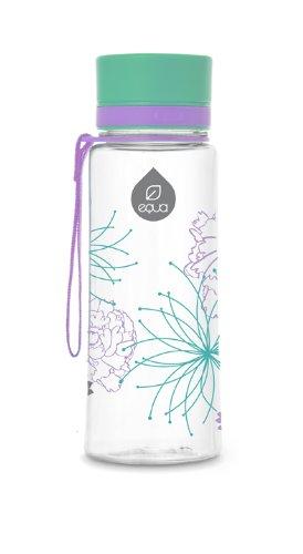 Botella rellenable EQUA libre de BPA - diseño Flores (0,4 L)