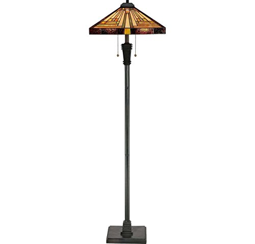 "Quoizel TF885F 2-Light Stephen Floor Lamp, 18"" x 18"" x 59.5"""
