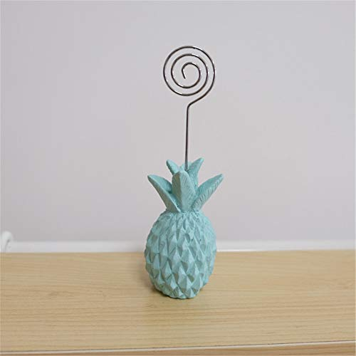 (1pcs Cute Resin Card Clip Holder Pineapple Shape Photo Holder Place Cardholder Memo Clip Creative Wedding Gift Ornaments)