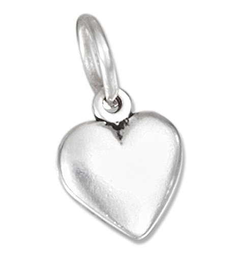 (Sterling Silver Tiny Puffed Heart Charm)