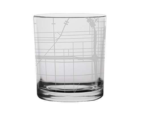 (Chicago City Map Whiskey Glass Illinois)