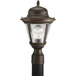 - Progress Lighting P5445-20 Westport Collection 1-Light Post Lantern, Antique Bronze