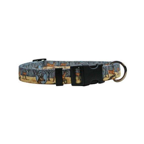 Deer Print Dog Collar - Size Large 18