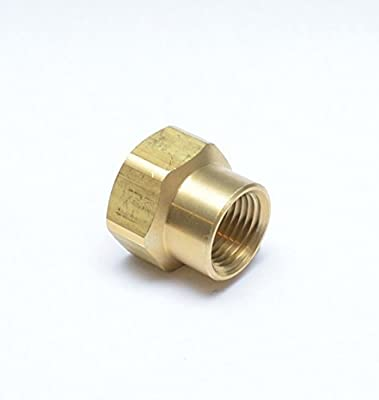 "FASPARTS 1/2"" Female NPT FPT FIP to 3/4"" Female GHT Garden Hose Thread Adapter Brass Fitting Fuel / Air / Water / Boat / Gas / Oil WOG House / Boat / Lawn / Power Wash / Irrigation"