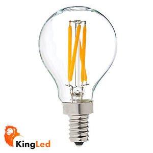 Bombillas filamentos LED E14 4W Minibola globo transparente 2700k luz calida para decoracion: Amazon.es: Iluminación