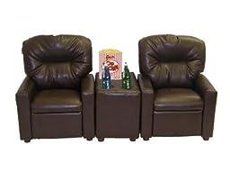 Dozydotes 11533 Theather Seating Pecan Brown Leather Like