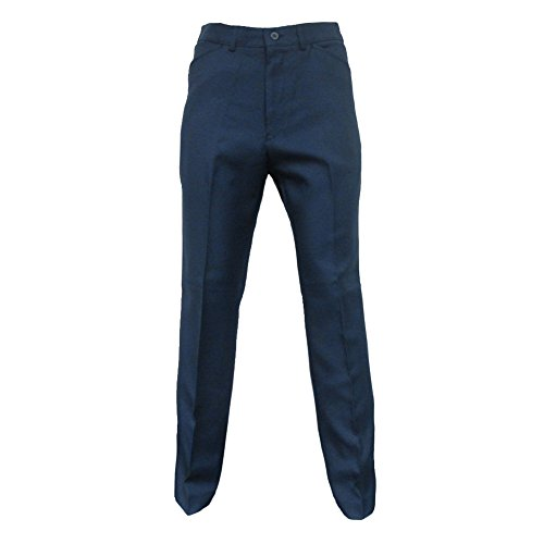 FARAH Mens Classic Midnight Navy Vintage Hopsack Retro Mod Trousers Size ()
