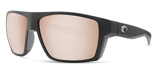 Costa Del Mar Bloke Sunglass Matte Black+Matte Gray/Copper Silver Mirror 580Plastic (Silver Gray Mirror Sunglasses)