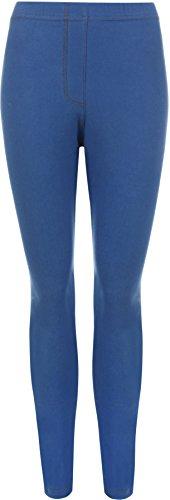 WearAll Women's Plus Size Jeggings Ladies Full Length Ankle Elasticated Leggings - Royal Blue - US 22-24 (UK 26-28)