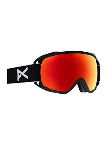 Anon Circuit Goggle with MFI Mask, Black Frame Sonar Red Lens ()