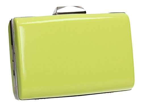 Leather Ladies Bag Patent Clutch Womens Box Oregon Faux SWANKYSWANS Party Prom Green FtqwcOvf4S