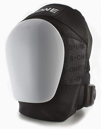 S-ONE GEN 3 PRO Knee Pads - White Cap (Small : Top of Knee 14''-15''; Bottom Knee 12''-13'') by S-ONE (Image #1)