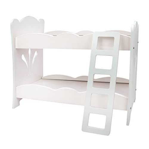 Low Cost Doll Bunk Bed 18 Inch Doll Furniture Set 18 White