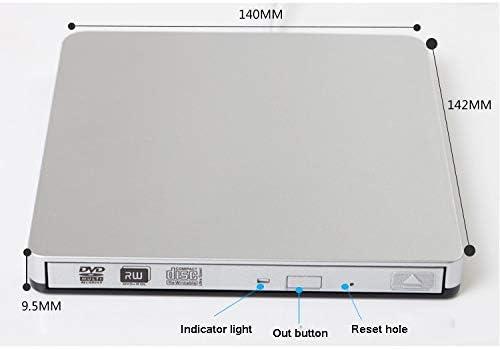 //-RW Drive//Burner//Writer Ultra-Thin Notebook Desktop Machine Universal Machine with Line IhDFR External Mobile Optical Drive USB3.0 CD//DVD