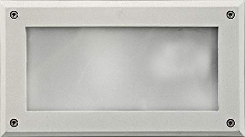 Dabmar Lighting DSL1001-W Open Face Incand 120V Step Light, White Finish