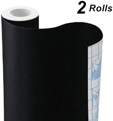 5 Bonus Color Chalks Chalkboard Contact Paper Roll Adhesive Chalkboard Wallpaper Stick and Peel Extra Large 17.7 x 78.8 inch Black Vinyl Wall Decal Removable Blackboard Sticker