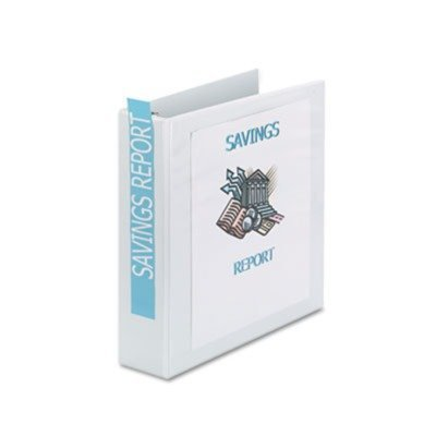 Economy Showcase View Binder with Round Rings, 2'' Capacity, White by Avery® 2' Capacity White