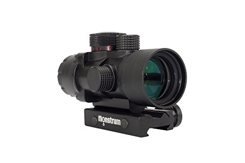 Monstrum Tactical S232P 2X Magnification Prism Scope (Black) (Best Scope For 200 Yards)