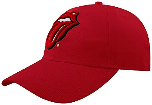 Rolling Stones Embroidered Hat - Rolling Stones red Official Baseball cap - embroidered - one size