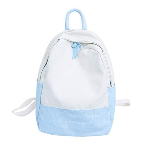 Clearance Women Backpack Rakkiss Canvas Hit Color Shoulder Bag Student School Bag Travel Backpacks (Designer Miu Miu Bags)