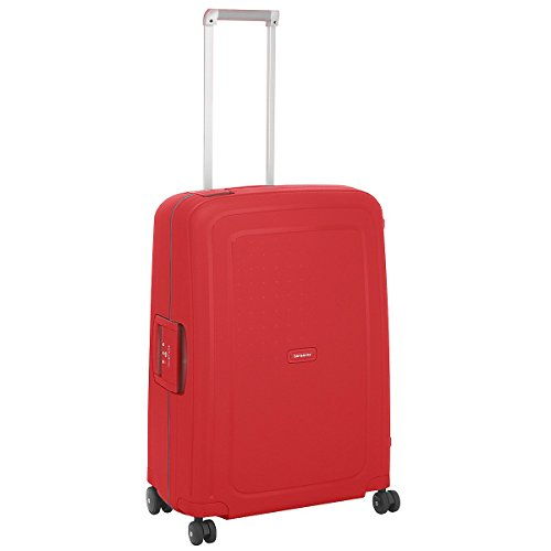 Samsonite S Cure Spinner 4-Rollen-Hartschalentrolley 69 cm poppy red