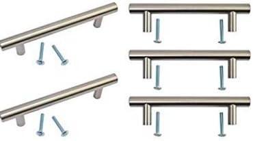 taza de cocina Tirador de barra de acero inoxidable con acabado de 128 mm para cocina armario puerta pomos 168 mm de longitud