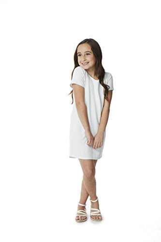 32 DEGREES Girls Faux Cashmere Short Sleeve Dress,White Confetti - Dress Confetti Print