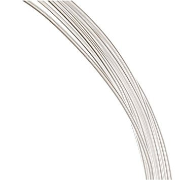 Silver Sterling Round Wire Hard - 1 Ounce. (12 Ft.) Sterling Silver Wire 18 Gauge - Round-Half Hard