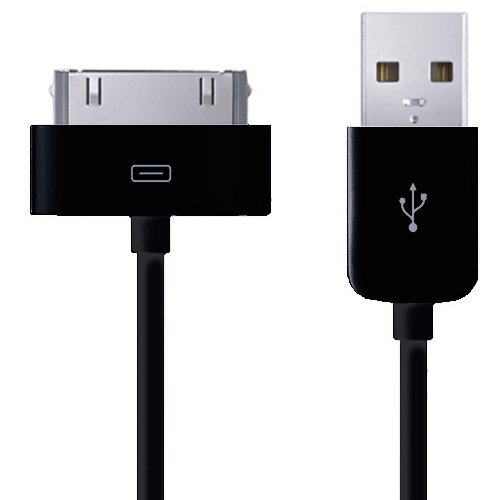 Price comparison product image Xtra-Funky Range High Quality 1 meter Replacement USB Charger Data Sync Transfer Cable For Apple iPhone 3G 3Gs 4 4S / iPod Touch 1st 2nd 3rd 4th Generations / iPod Nano 1st 2nd 3rd 4th 5th 6th Generations - BLACK