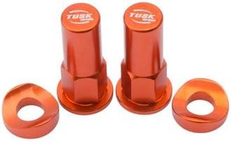 Tusk Rim Lock Nut//Spacer Kit Orange Fits KTM 50 SX MINI 2008-2019